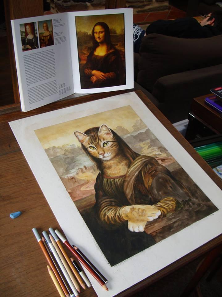 Naissance de la couverture du livre sur les chats de Séverine Pineaux