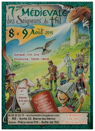 Affiche des Médiévales de Vic sous Thil 2015