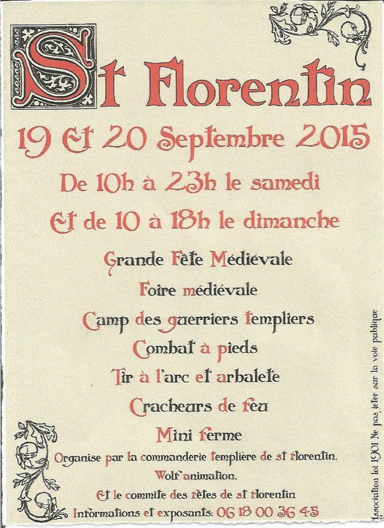 Affiche de la fête médiévale