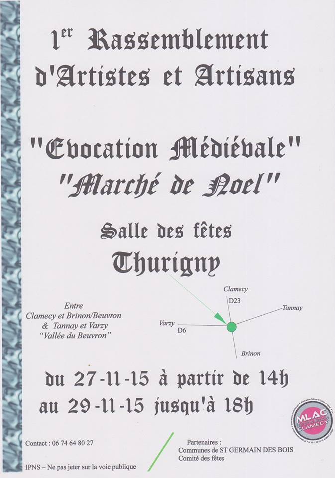 Affiche du marché de Noël de St Georges sur Baulche