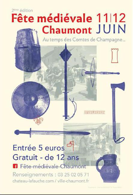 Affiche de la 2ème fête médiévale de Chaumont