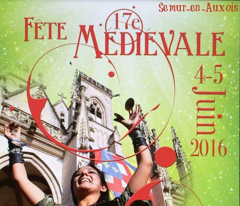 Affiche de la 17ème fête médiévale de Semur-en-Auxois