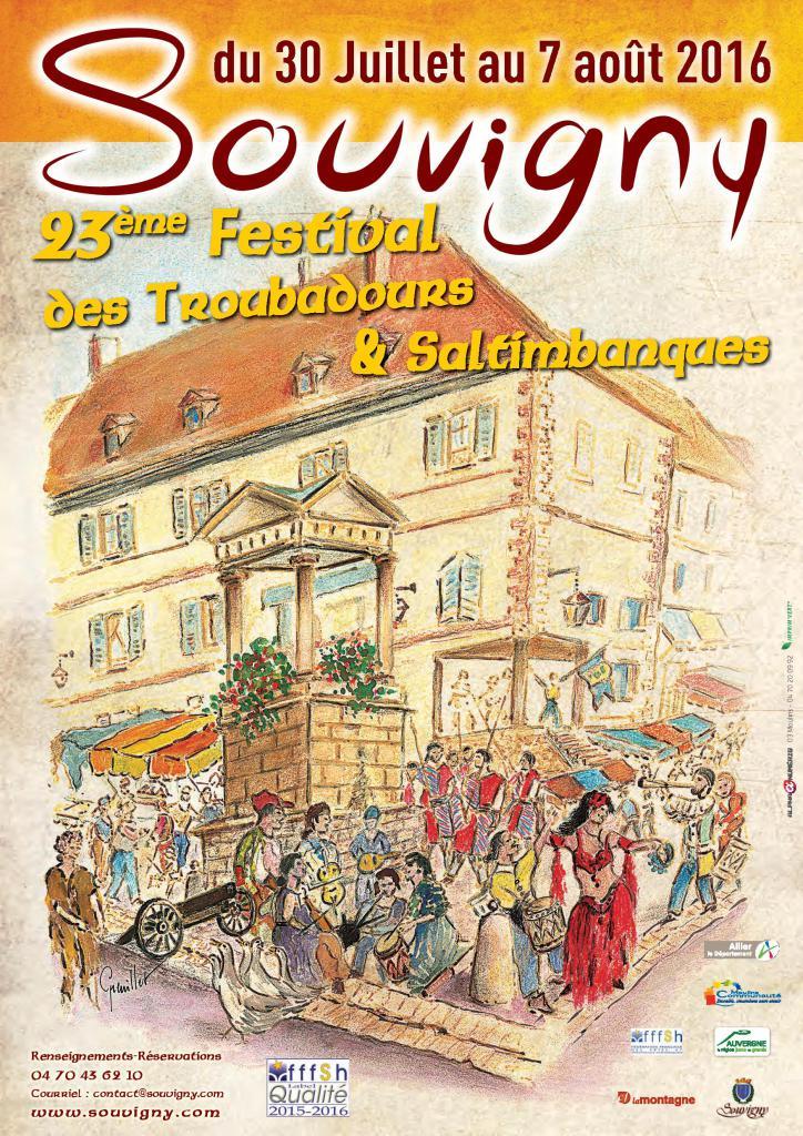 Affiche de la Foire médiévale de Souvigny