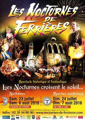 Affiche des 34ème Nocturnes de Ferrières
