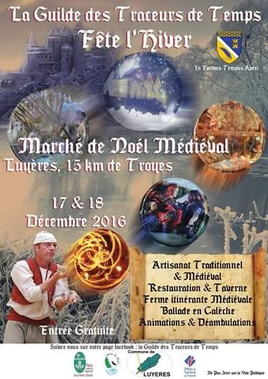 Affiche du Marché de Noël médiéval de Luyères
