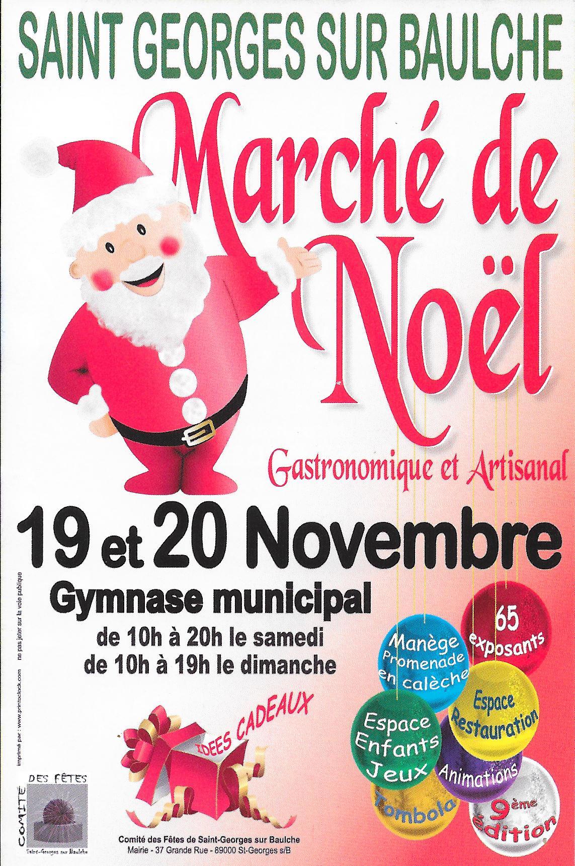 Affiche du marché de Noël de St Georges sur Baulches