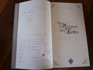 Exemplaire hors commerce du <em>Murmure des étoiles</em> dédicacé par Céline Guillaume et Séverine Pineaux