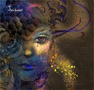 Thalie Bernhardt, illustration tirée du livre de Christophe Dougnac AmuseZ, Les Muses de A à Z