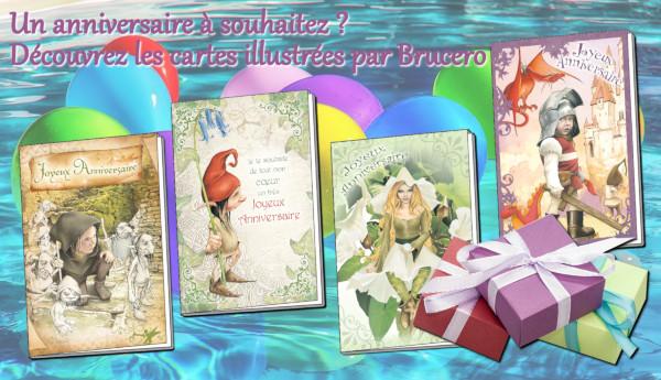 cartes d anniversaire de Brucero