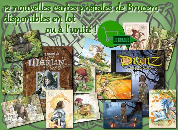 cartes postales féeriques de Brucero