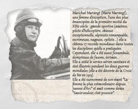 Marichat Marvingt, un histochat du concours Histochats de Séverine Pineaux